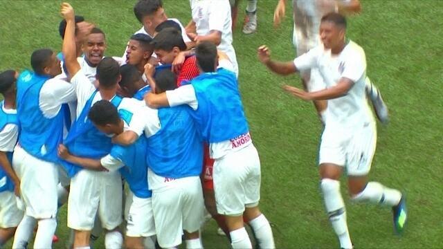 Os gols de Atlético-PR 0 x 2 Corinthians pela Copa do Brasil Sub-17