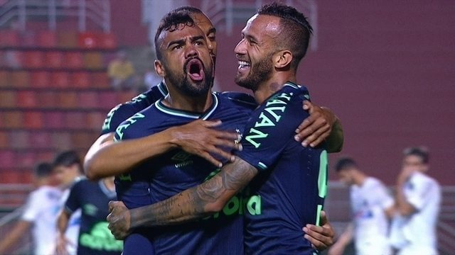 O gol de Santos 0 x 1 Chapecoense pela 33ª rodada do Campeonato Brasileiro