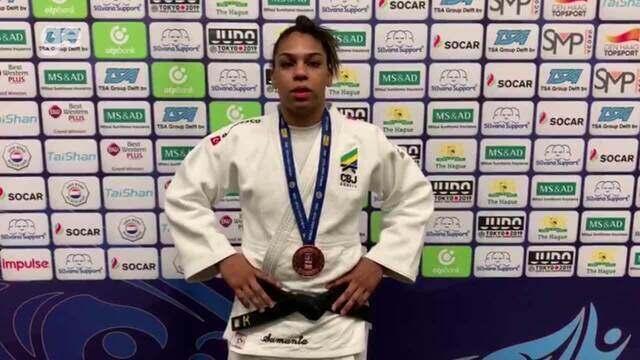 Samanta Soares fala sobre o bronze no GP de Haia