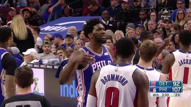 Melhores momentos: Sixers 116 x 102 Pistons pela NBA
