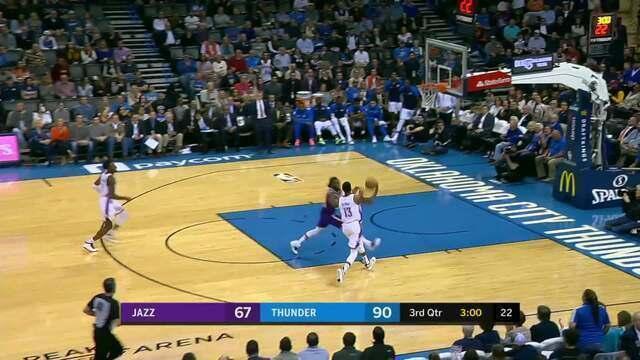 Melhores momentos: Thunder 122 x 113 Jazz pela NBA