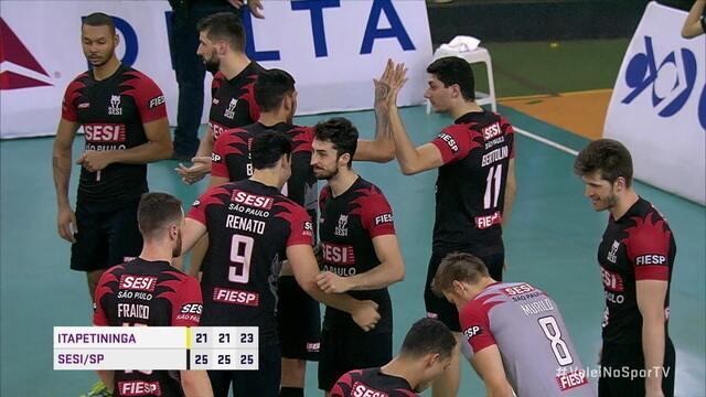 Os melhores momentos de Itapetininga 0 x 3 Sesi/SP pela Superliga de vôlei masculino