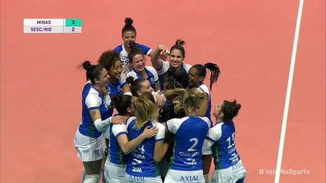 Pontos finais: Minas 3 x 2 Sesc/Rio pela Superliga de Vôlei Feminino
