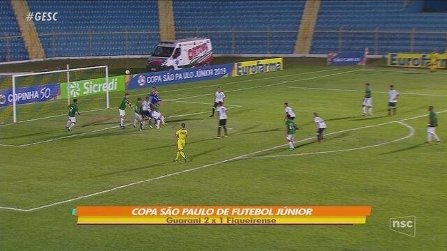 Figueirense perde para o Guarani e é eliminado da Copa SP de Futebol