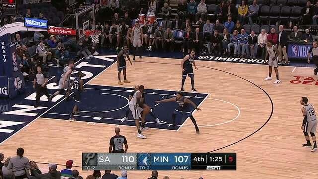 Melhores momentos: San Antonio Spurs 116 x 113 Minnesota Timberwolves