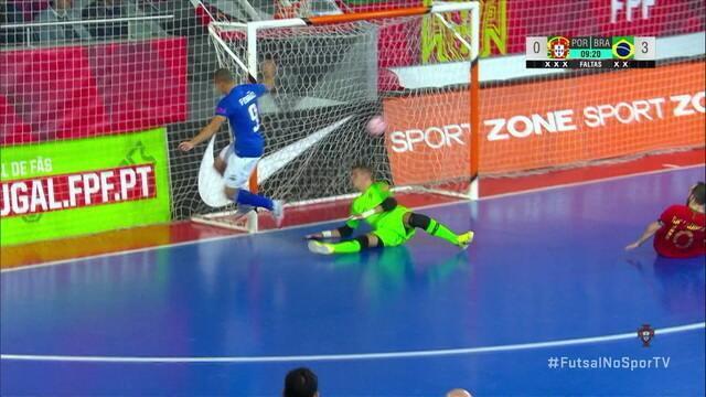 Os gols de Brasil 4 x 0 Portugal em amistoso de futsal