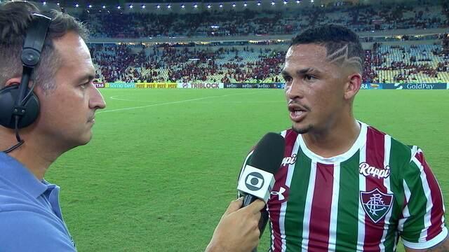 """Autor do gol da classificação, Luciano diz que investimento no ganha jogo: """"Futebol se ganha onze contra onze"""""""