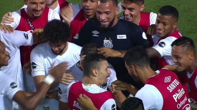 Os gols de Santos 3 x 0 Guarani pela 7ª rodada do Campeonato Paulista