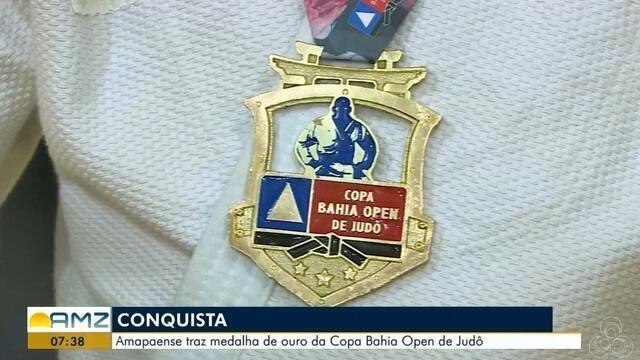 Amapaense traz medalha de ouro da Copa Bahia Open de judô