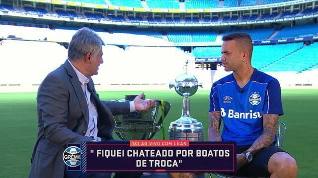 Cléber Machado conversa com Luan, do Grêmio no quadro 1 x 1