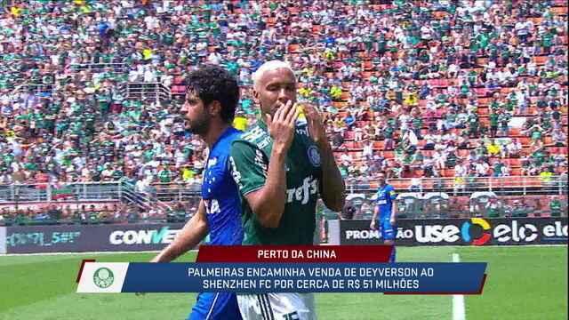 Palmeiras recebe proposta da China por Deyverson