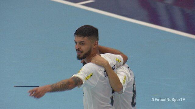 Os gols de Marreco Futsal 2 x 4 Corinthians pela Supercopa de futsal