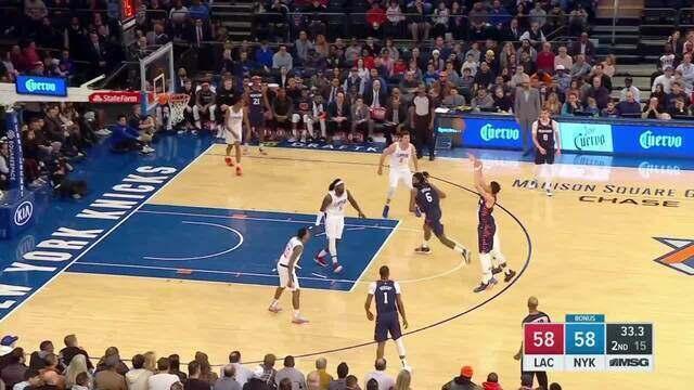 Melhores momentos: Los Angeles Clippers 124 x 113 New York Knicks pela NBA