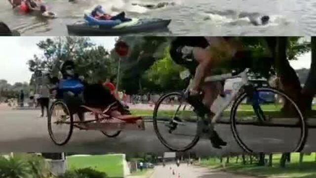 Rodrigo e Gabriel, que estarão na Wings for Life, participaram de uma prova de triatlo em