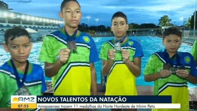 Amapaenses trazem 11 medalhas do Norte Nordeste de Mirim Petiz
