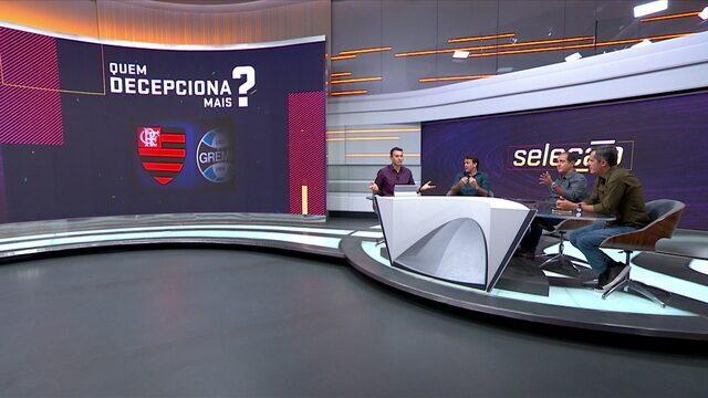 Comentaristas debatem sobre qual time está decepcionando mais entre Flamengo e Cruzeiro
