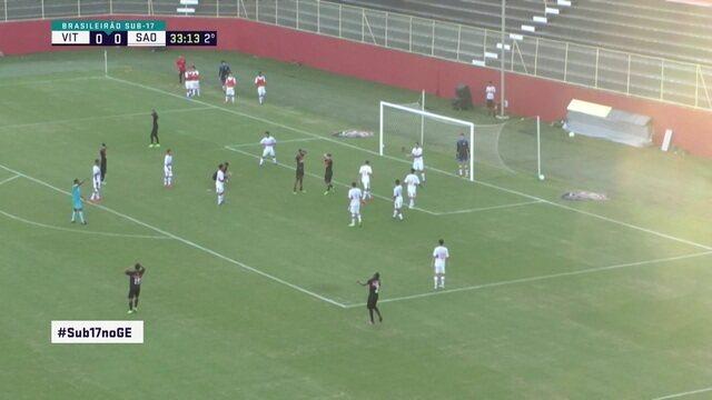 Melhores momentos de São Paulo 1 x 0 Vitória pelo Campeonato Brasileiro Sub-17