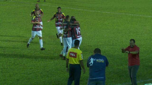 Gol do Real Ariquemes, aos 27 minutos do segundo tempo, feito pelo meia-atacante Dadai
