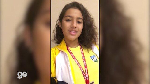Roraimense Kaylane Greco representa o Brasil em competição de natação e manda recado ao GE