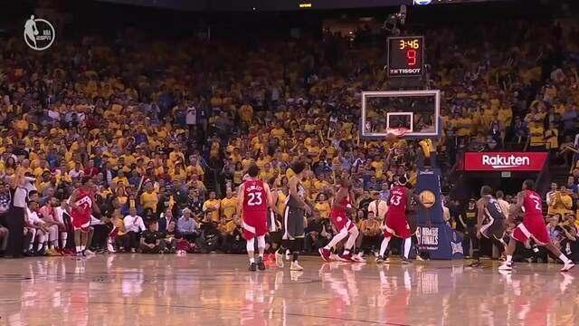 Melhores momentos do último jogo da NBA entre Toronto Raptors e Golden State Warriors