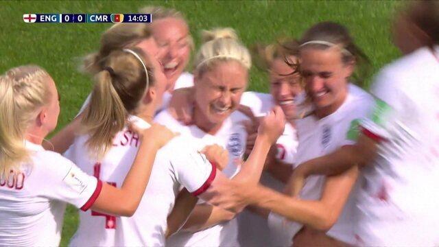 Gol da Inglaterra! Houghton fuzila e abre o placar, aos 13 do 1º tempo