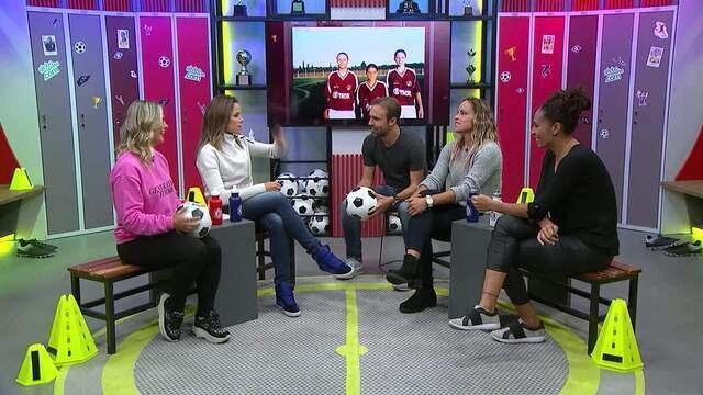 Boleiragem recebe as meninas da Seleção Brasileira de Futebol e ex-jogadoras