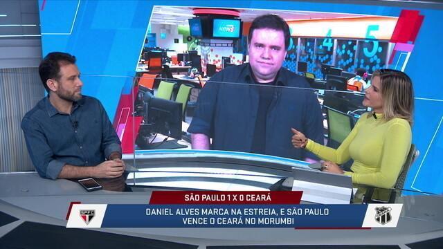 SporTV News analisa o desempenho do Daniel Alves na estreia pelo São Paulo