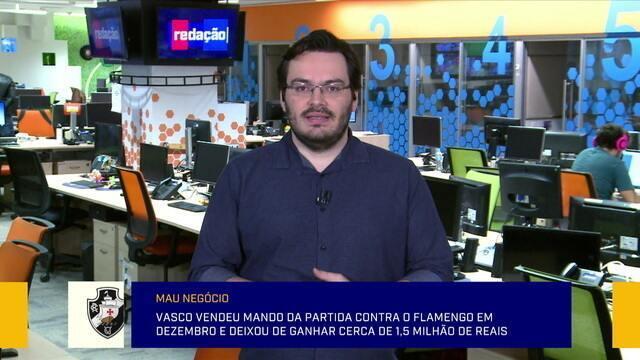 Rodrigo Capelo considera um mau negócio a venda de mando de campo pelo Vasco