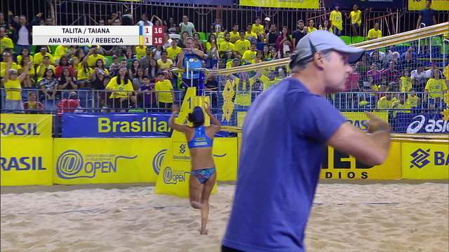 Ana Patrícia e Rebecca são campeãs da etapa de Brasília do Vôlei de praia feminino
