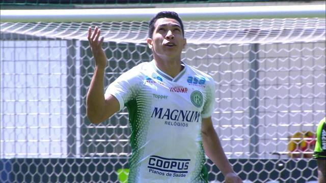 Gol do Guarani! Igor Henrique abre o placar, aos 15' do 1º tempo