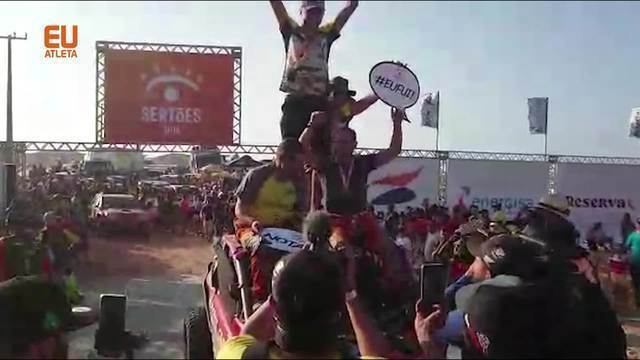 Chegada de Clayton Conservani no Rally dos Sertões 2019