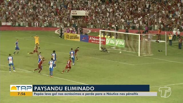 Série C: Náutico vence jogo contra Paysandu