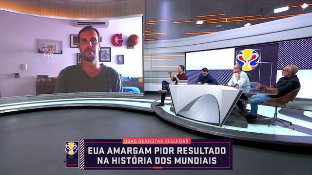 Marcelinho Machado fala ao vivo no Seleção SporTv sobre o resultado do EUA no Mundial do Basquete
