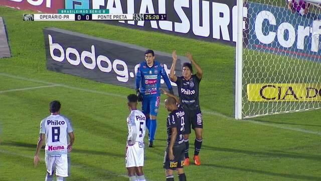 Everton cobra falta, Edson se estica mas não alcança a bola e Rodrigo Vianna joga para escanteio, aos 25 do 1º tempo