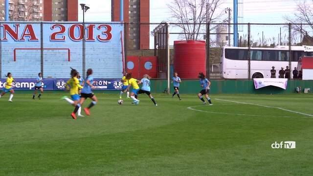 Seleção brasileira feminina sub-20 goleia Uruguai por 6 a 1 em torneio amistoso