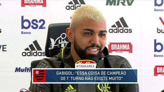 Gabigol afirma que empolgação da torcida não afeta jogadores do Flamengo