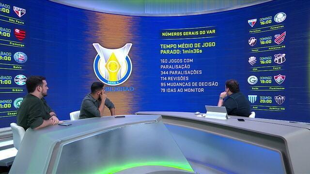 Números gerais do VAR: Tempo médio de paralisação é de 1'36'' no Campeonato Brasileiro