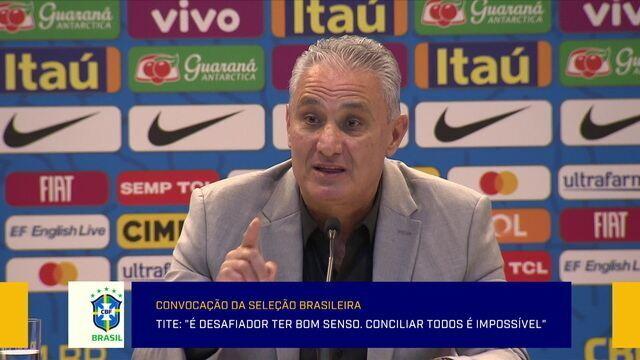 Tite fala sobre as novidades na relação de convocados da Seleção Brasileira