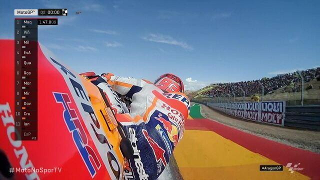Marc Marquez fica com a pole para o GP de Aragão de MotoGP