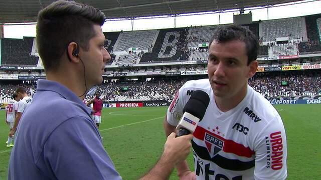 """De volta da lesão e dono do gol da vitória, Pablo comemora: """"Precisávamos voltar a vencer"""""""