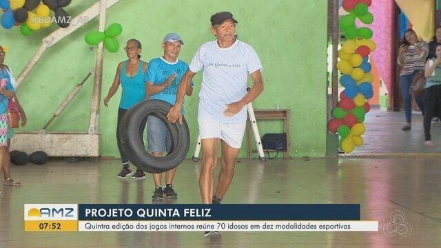 'Quinta Feliz': jogos internos reúnem 70 idosos em dez modalidades esportivas
