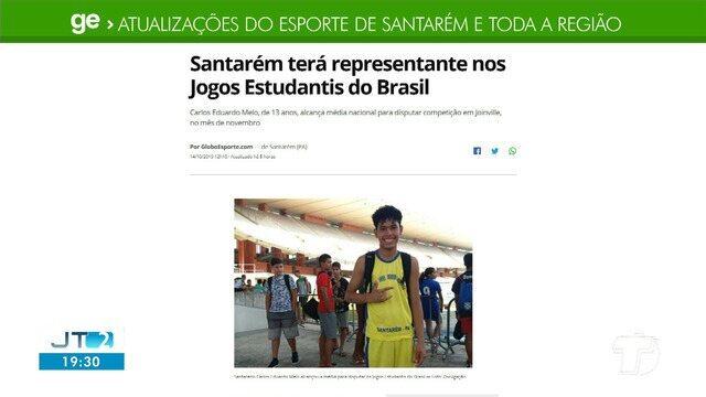 Menino de 13 anos que é representante nos jogos estudantis do Brasil é destaque no GE