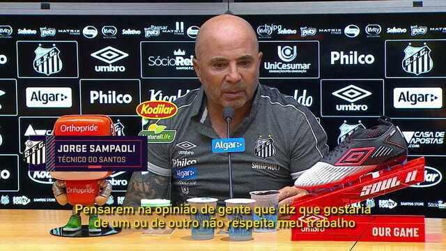 Jorge Sampaoli defende Everson da crítica da torcida do Santos