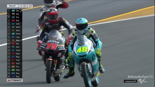 Lorenzo Dalla Porta vence etapa do Japão na Moto 3 no Mundial de motovelocidade