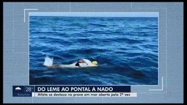 Araxaense completa prova de nado em alto mar após 17h pela segunda vez