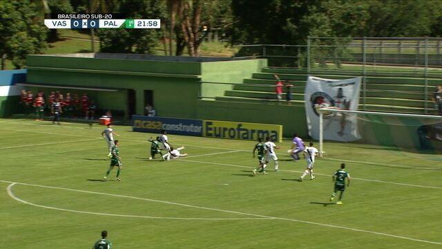 Melhores momentos: Vasco 0 x 1 Palmeiras pelo Campeonato Brasileiro sub-20
