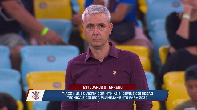 Comentaristas falam sobre falta de contato entre Tiago Nunes e Coelho no Corinthians