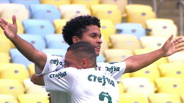 Gol do Palmeiras! Gabriel Silva abre o placar, aos 9' do 1º tempo