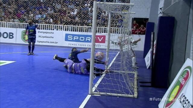 Os gols de Guarany 3 x 3 Atlântico pelo jogo de ida da final da Liga Gaúcha de Futsal