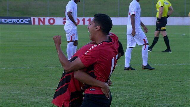 Os gols de Athlético-PR 2 x 1 América de Cali pelas quartas de final da Copa RS de Futebol sub-20